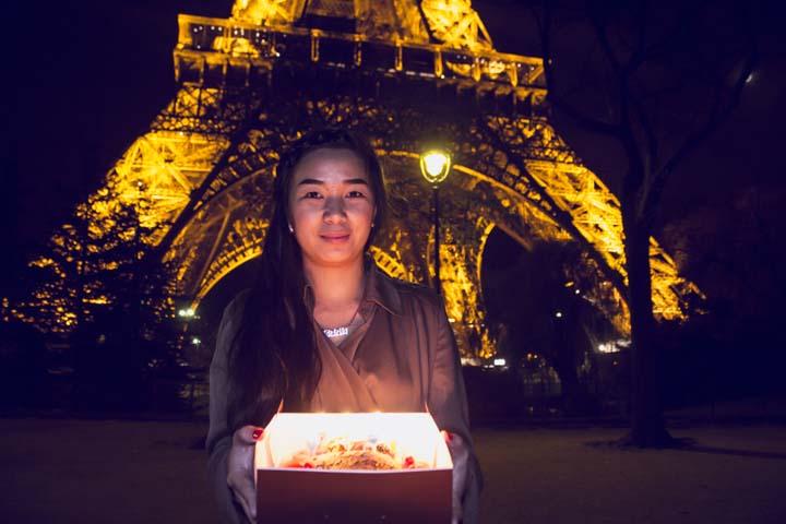 La Tour Eiffel la nuit -illuminations Pierre Bideau-