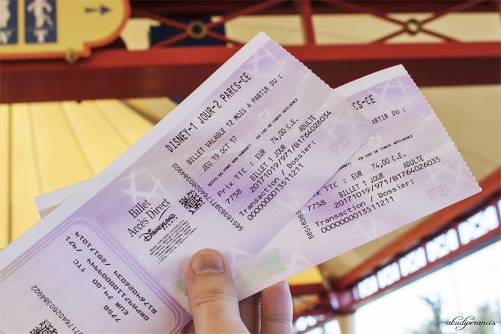 Jalan-Jalan Ke Disneyland Paris-tiket