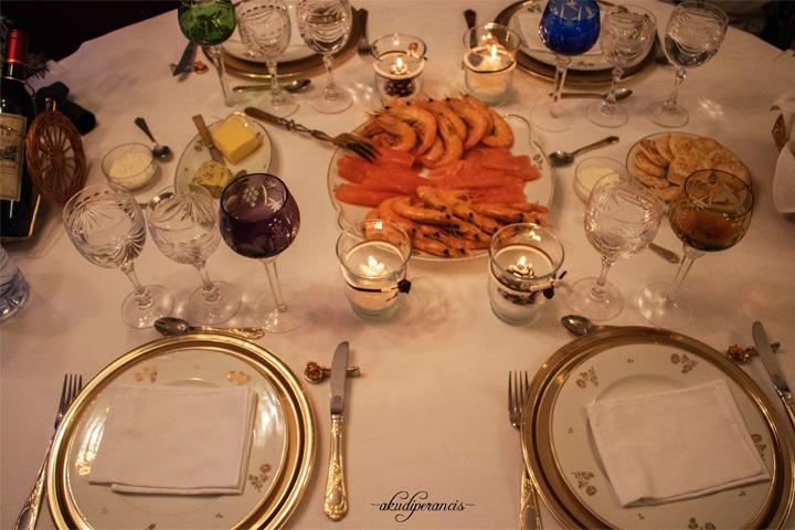 Tradisi Tahun Baru di Perancis-udang dan salmon