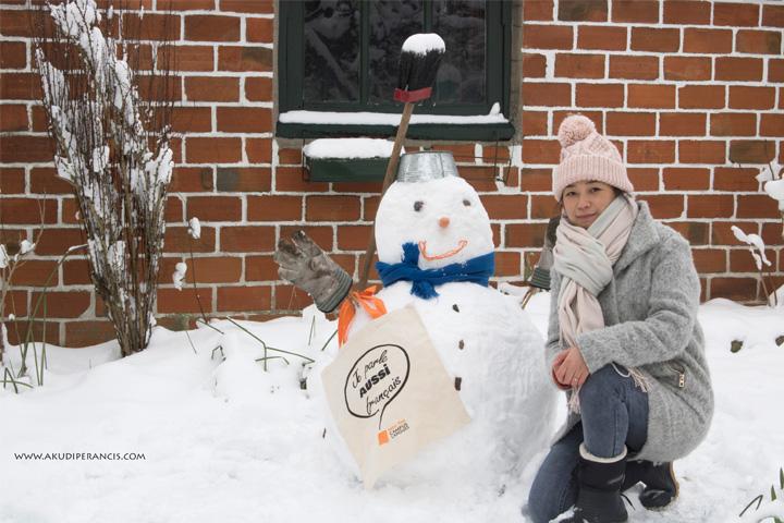 Turunnya Badai Salju Di Paris dan Sekitarnya-Boneka Salju