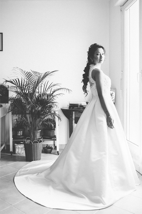 Wearing a Wedding Gown