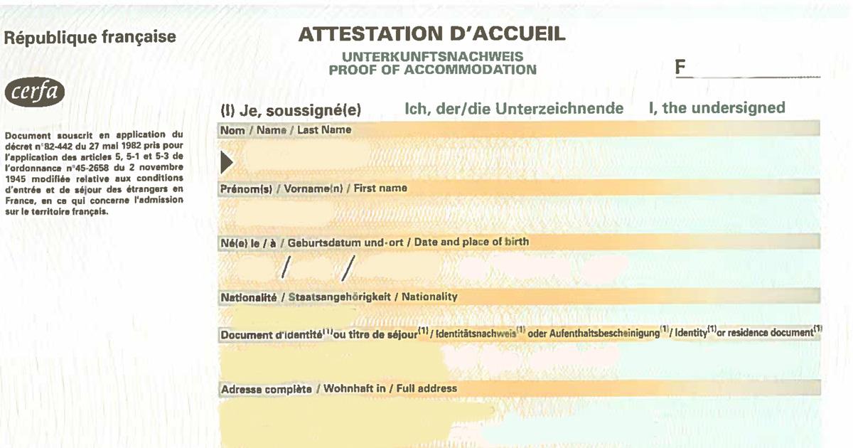 Surat pengesahan tempat tinggal untuk ke Perancis-fb