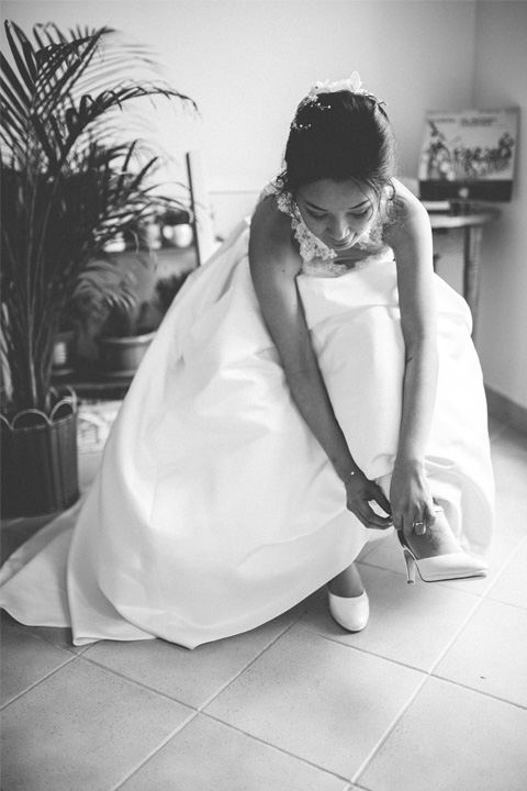Wedding Gown and heels