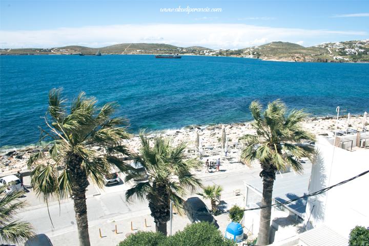 Suasana Pantai Parikia, Paros Yunani