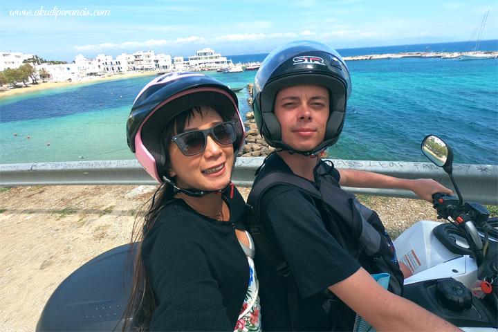 Keliling Pulau paros dengan quad