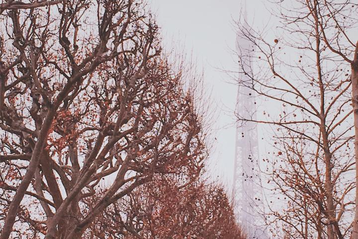 Suhu di Kota Paris Musim Dingin